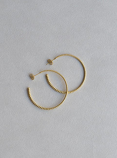 Laura Gravestock majestic large hoop earrings
