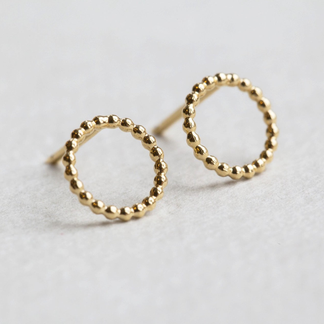 Yoriko Mitsuhashi gold plated beaded circle studs