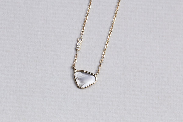 Sliced Diamond Universe Necklace