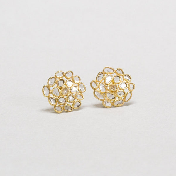 matching diamond slice cluster stud earrings are also available at feltlondon.com