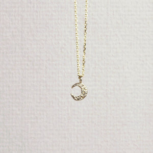 Micro Crescent Moon Necklace