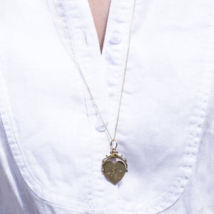 Spinning Heart charm as a necklace