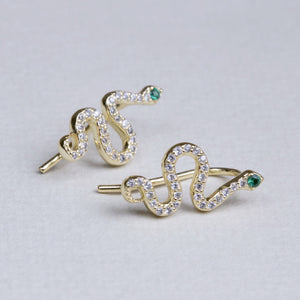 Snake Pave Earrings