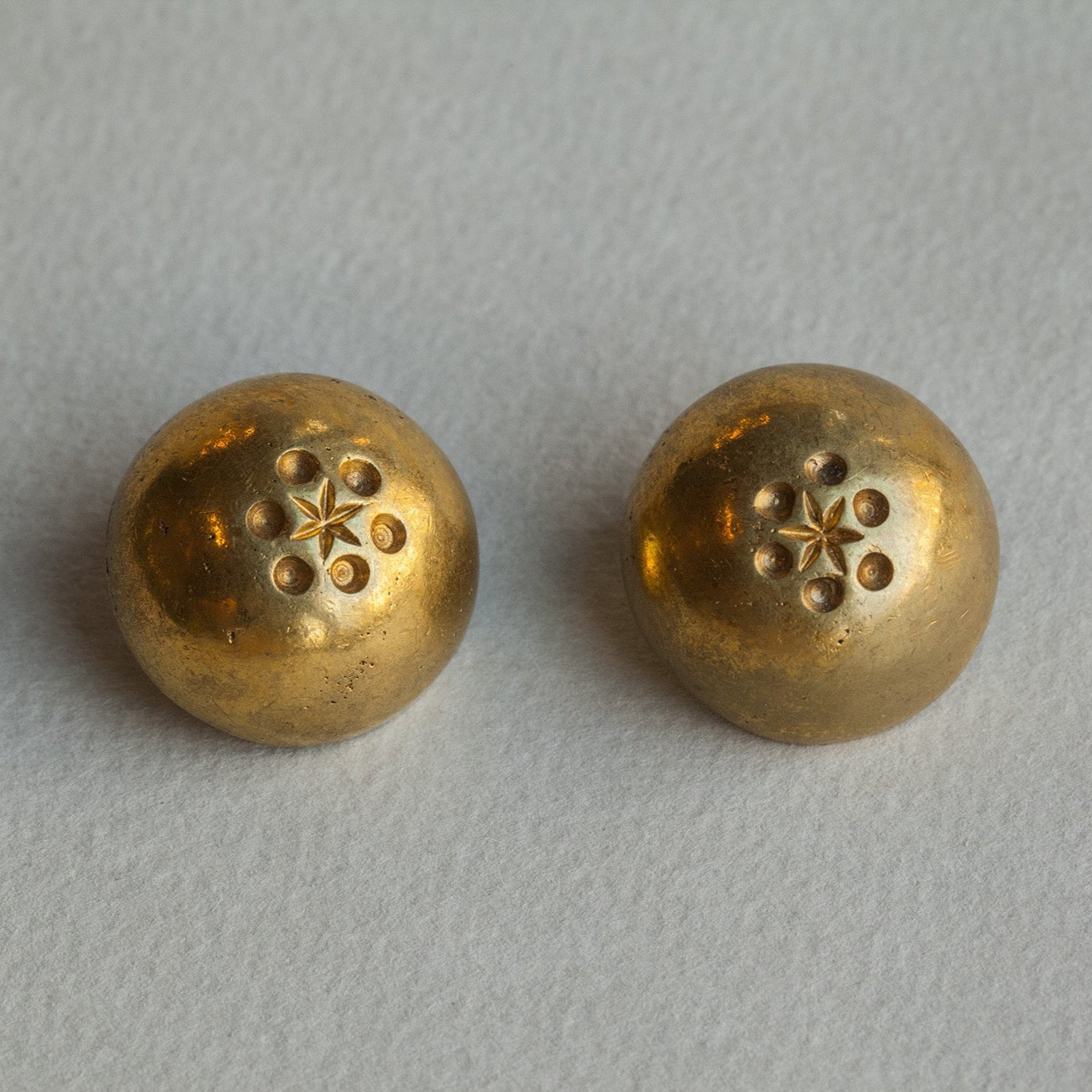 Line Vautrin vintage dome clip on earrings
