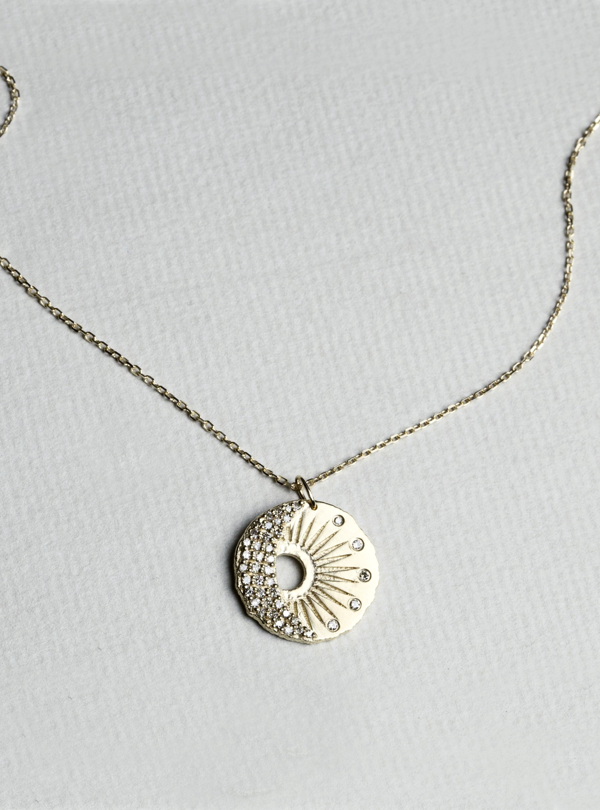 Sun and Moon Medal Necklace