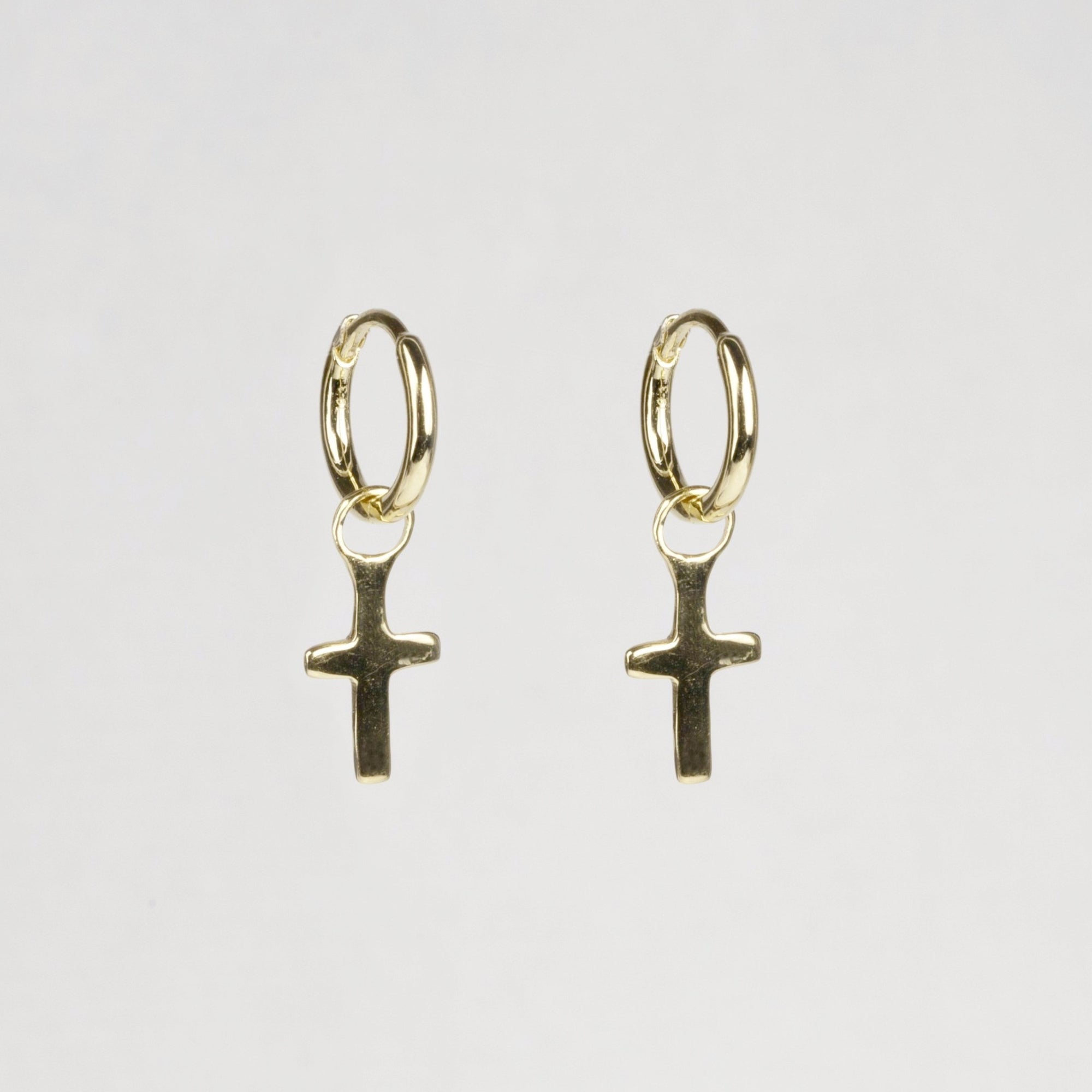 felt's Charmed Hoop Earrings - Crosses