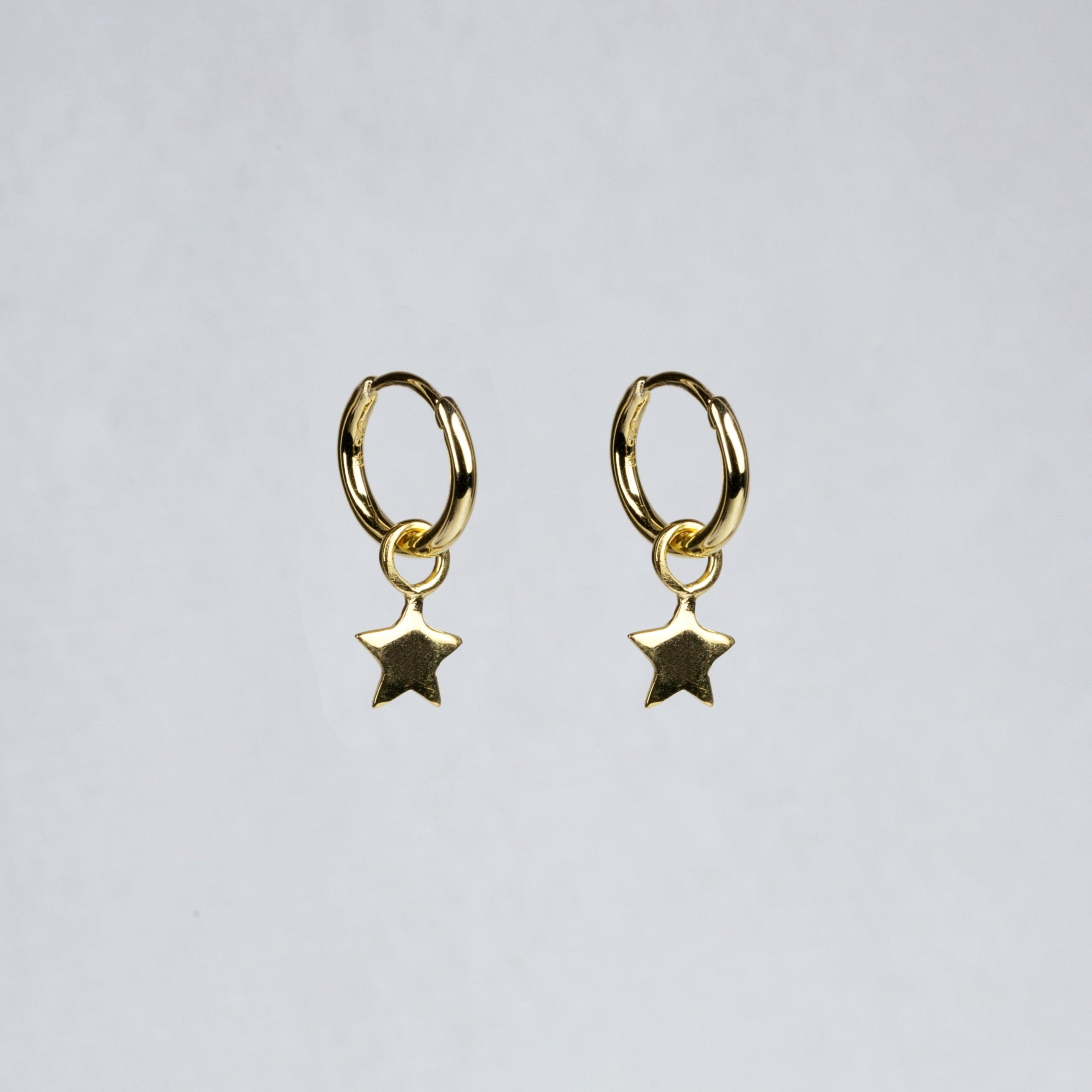 Charmed Hoop Earrings - Stars in Yellow Gold