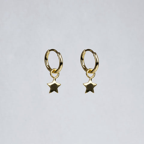 Charmed Hoop Earrings - Stars