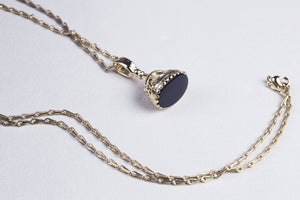 Black Onyx Seal Necklace