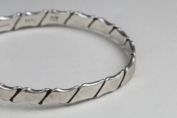 Vintage Sterling Silver bangle #203 by Hans Hansen