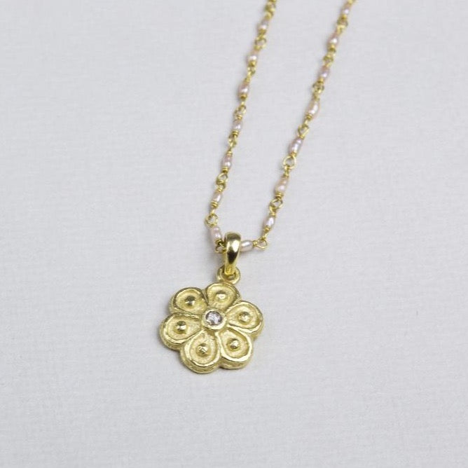 Marigold Diamond Pendant Necklace