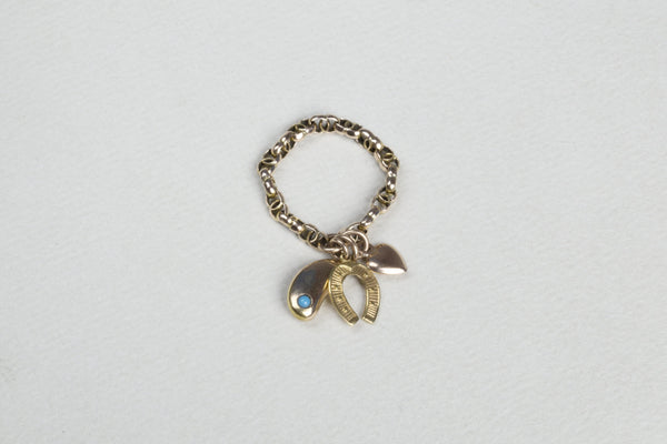 Vintage Charm Chain Ring