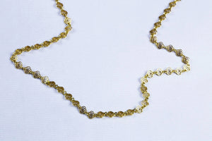 Triple Circle Gold Chain Necklace