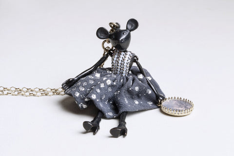 Black Mouse Necklace