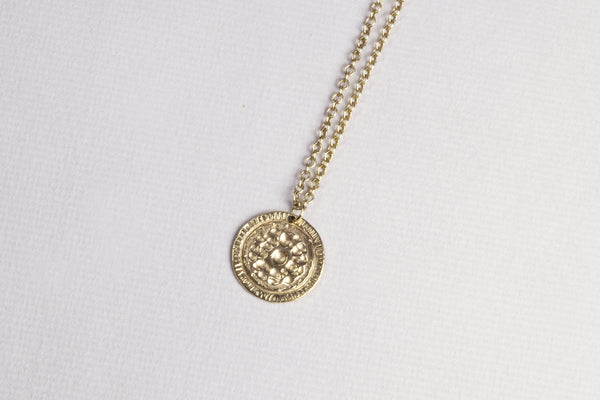 9ct Gold Medal Necklace