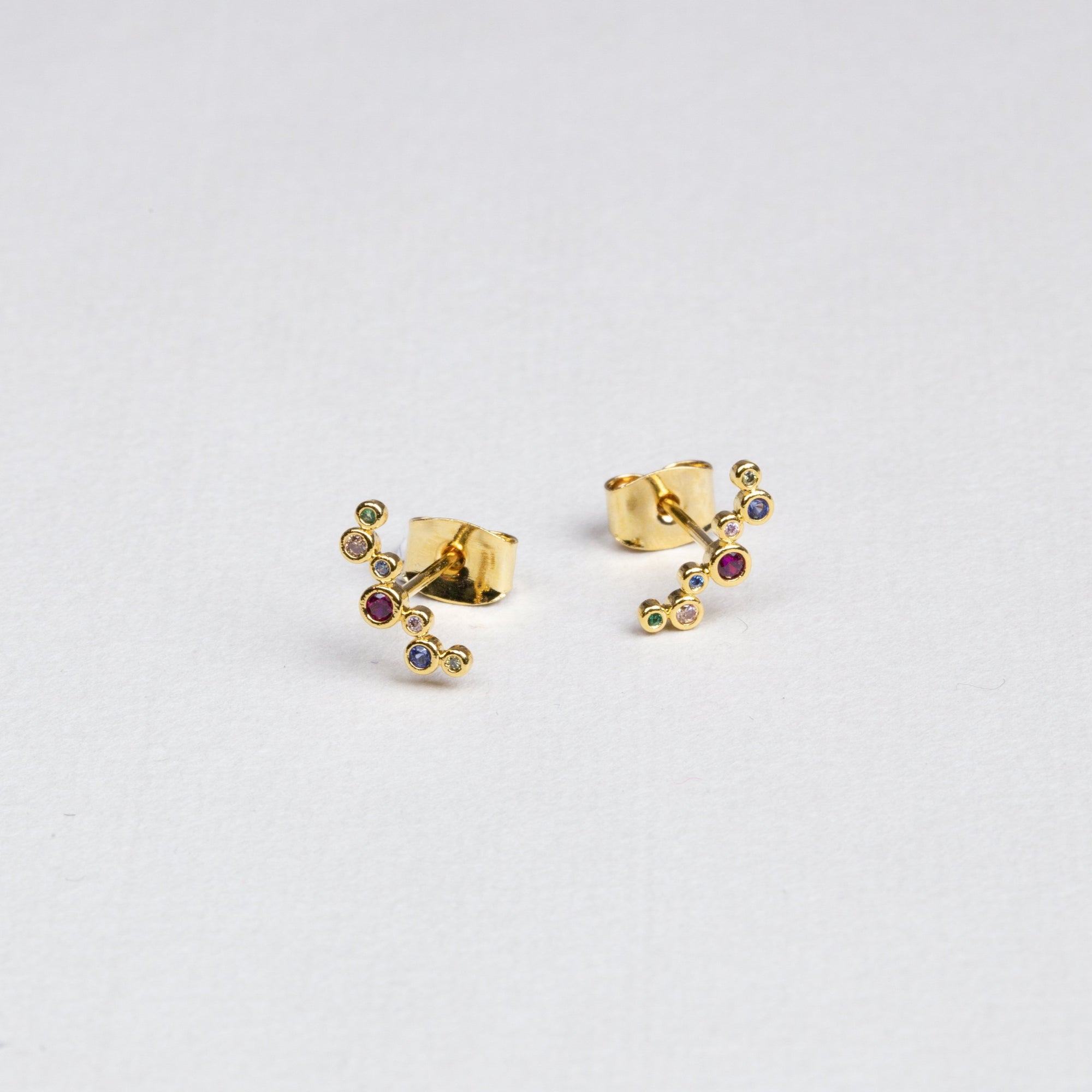 Multicolour Bubbly Stud Earrings