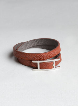 "Vintage Hermes ""Behapi Double Tour"" Bracelet"