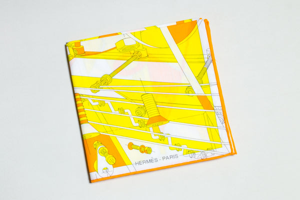 "Special edition Hermes Scarf ""STEP INTO THE FRAME"""