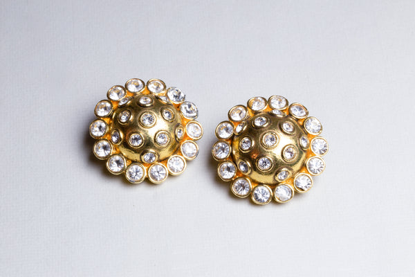 Vintage Chanel Clip-ons with Chrystals