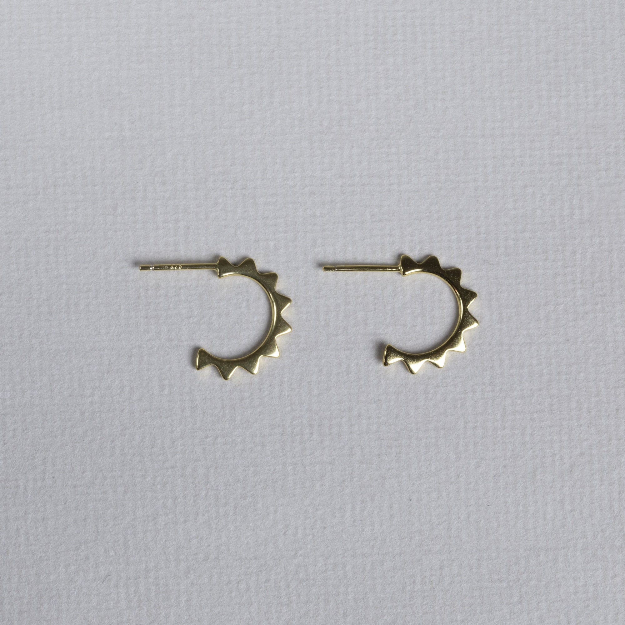 Mini Gold-plated Sun Hoop Earrings