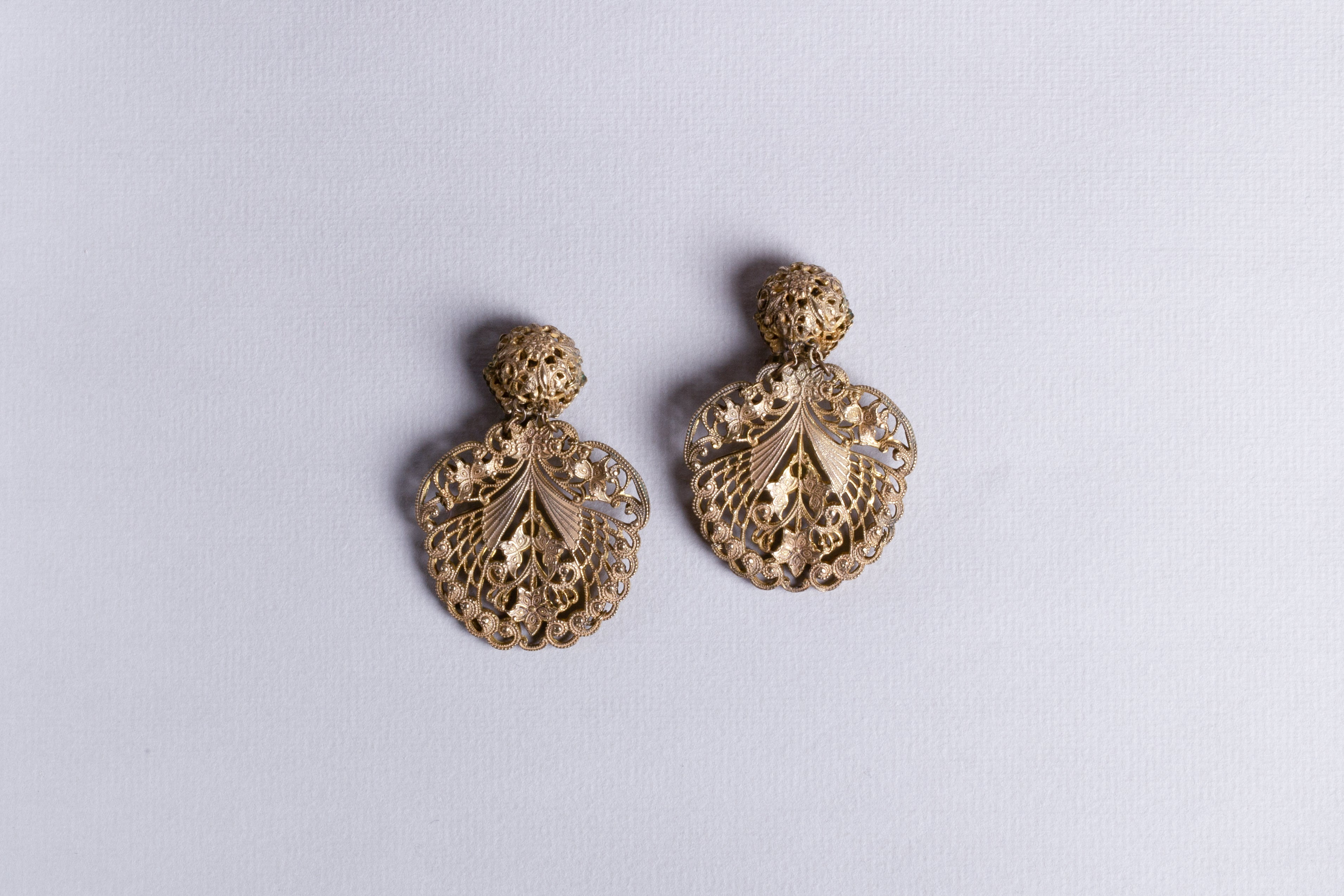 Vintage Clip-On Gold Earrings
