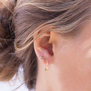 Gold-plated Double Star Studs