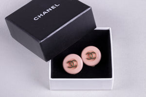 Chanel Pink Clip-on Earrings