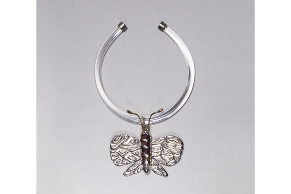 Silver Butterfly Choker Necklace