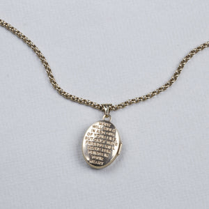 9ct Gold Paw Prints Pendant Necklace