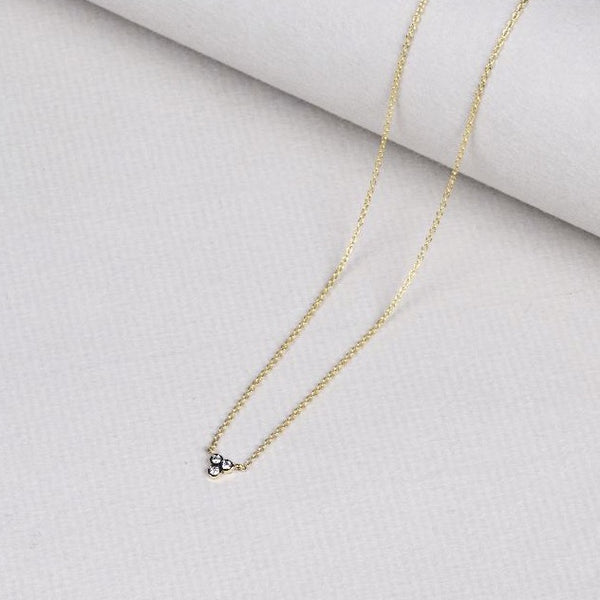 18ct Gold Necklace with Black Gold and White Diamonds