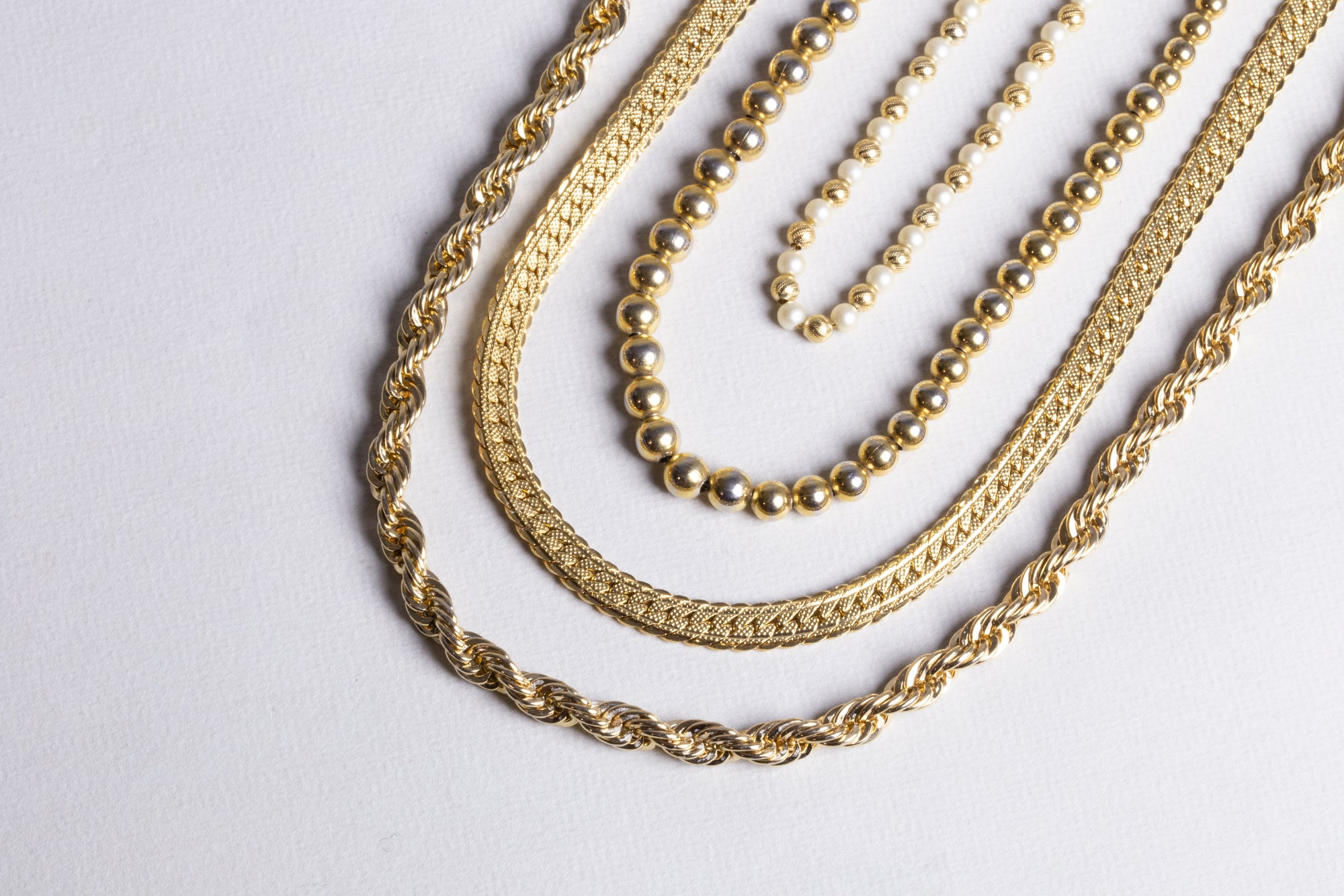 Set of Vintage Gold Necklace