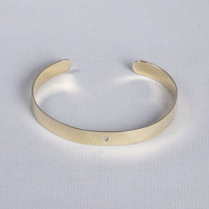 18ct Gold Open Flat Bangle Bracelet