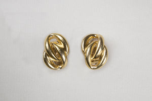 Vintage Gold Clip-on Earrings