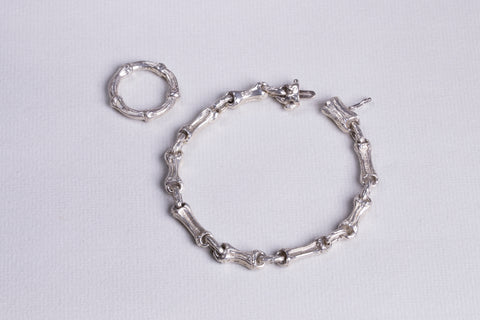 Vintage Sterling Silver Bracelet and Ring