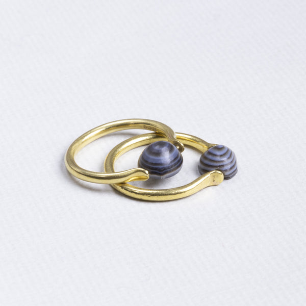 18ct Gold Ring with Victorian Agate
