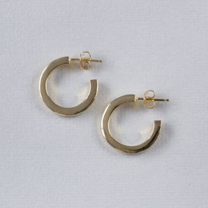 Gold Vermeil Chunky Hoop Earrings