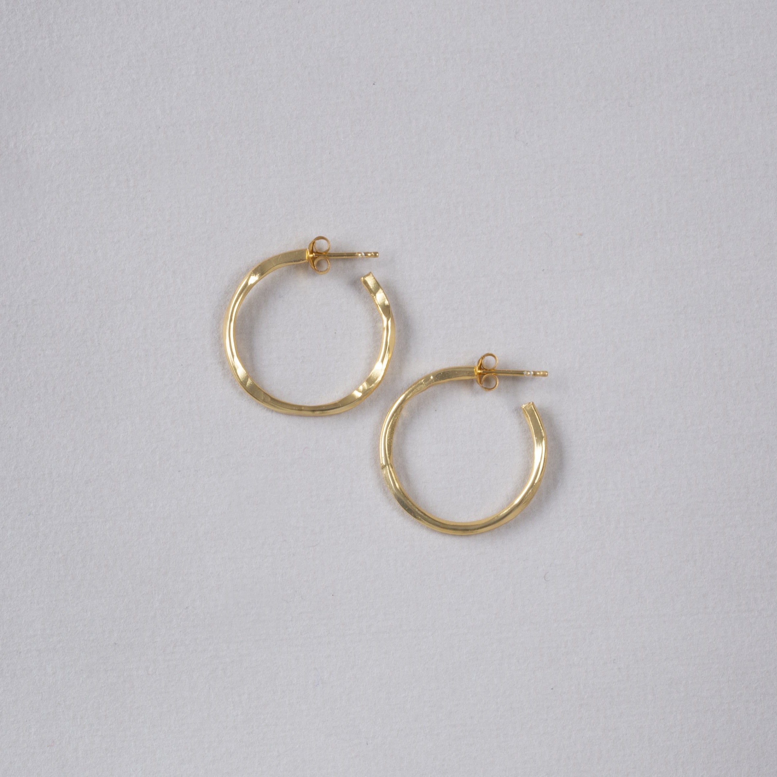 Organic Gold Vermeil Hoop Earrings