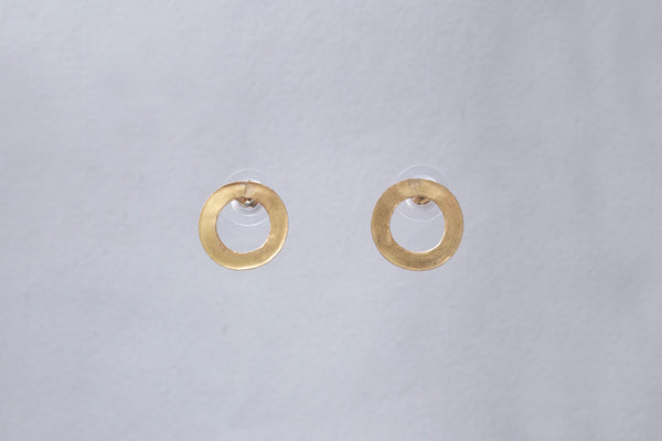 18ct Gold Single Link Stud Earrings