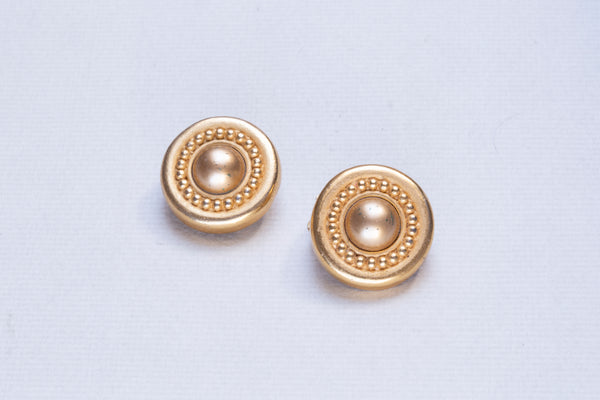 Vintage Gold Round Clip-on