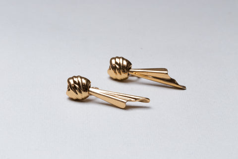 Vintage Gold Dangling Clip-on Earrings