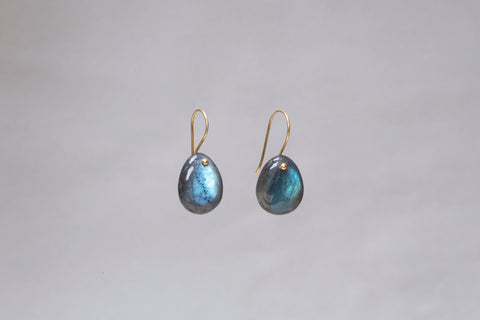 Labradorite Pebble Drop Earrings