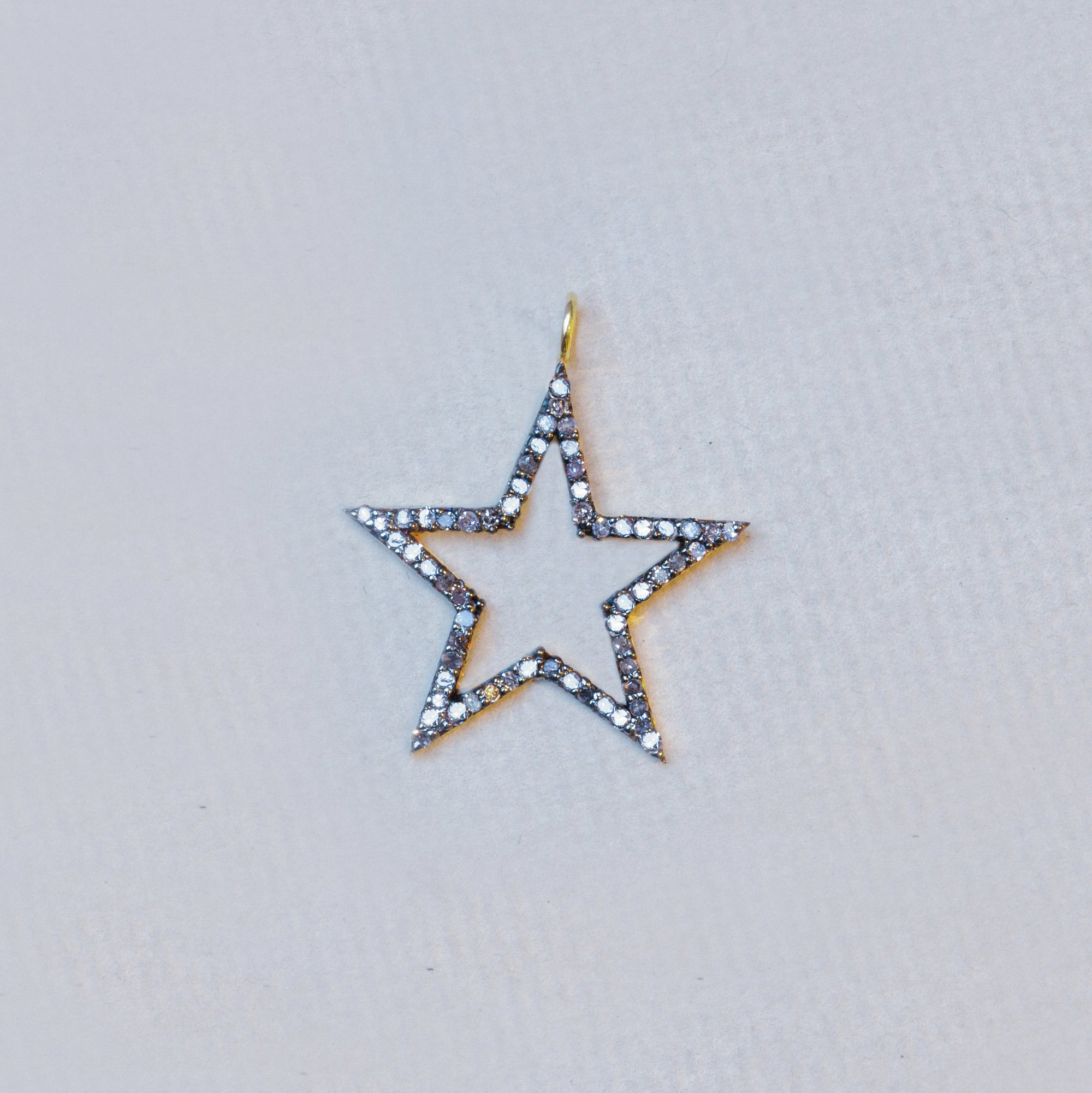 Big Diamond Star Pendant Charm