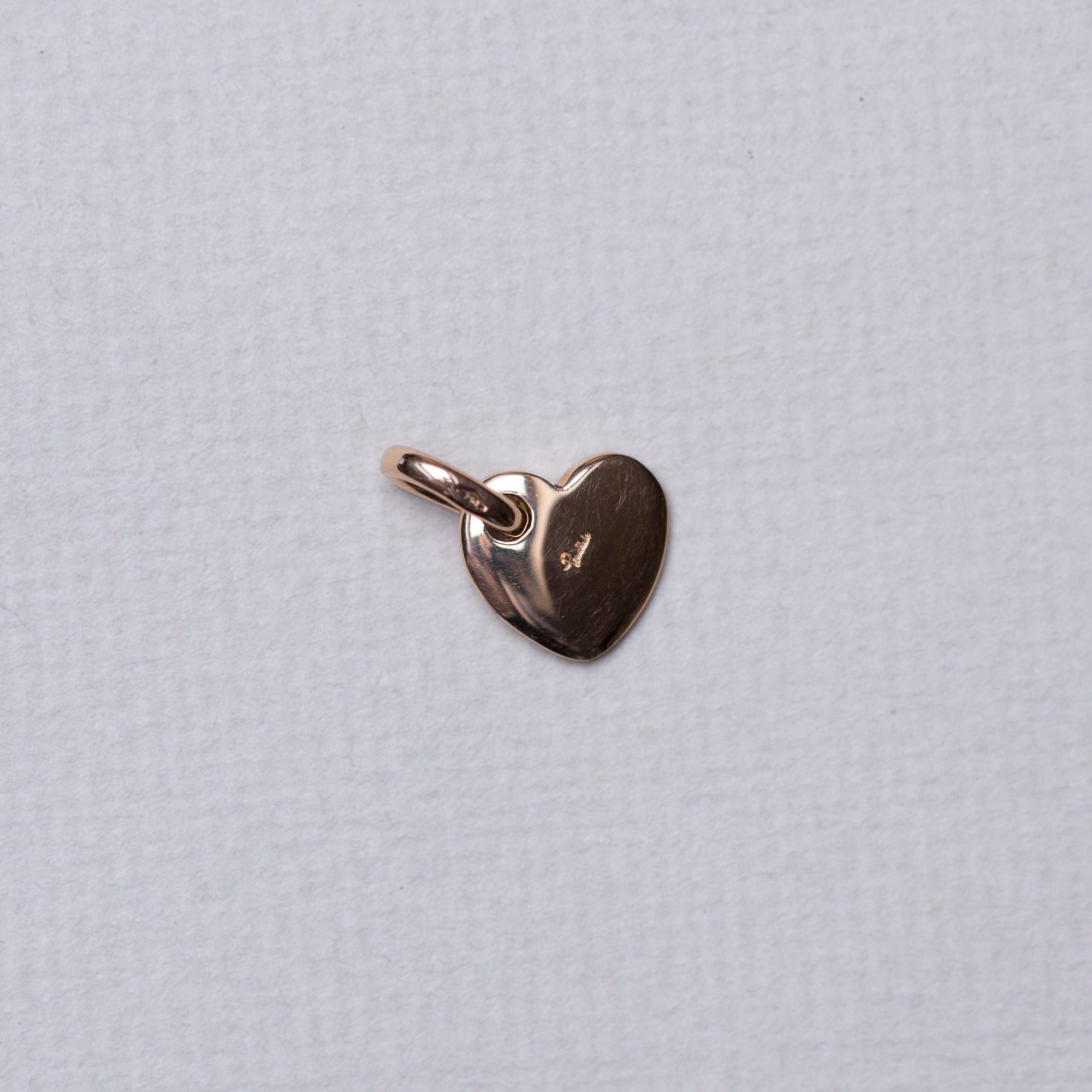 18ct Gold Heart Pendant Charm