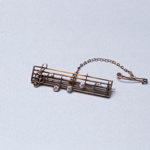 9ct Gold DEARest Music Brooch