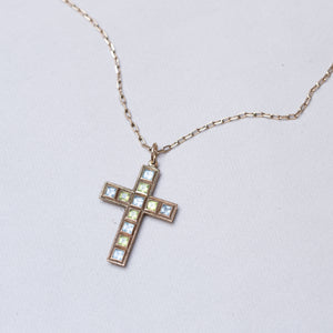 Vintage Gold Cross Pendant Necklace