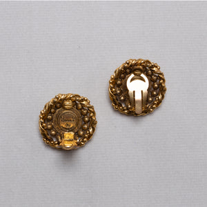 Vintage Gold Bobble Clip-on Earrings