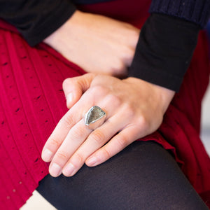 Sterling Silver Ring with Pyrite