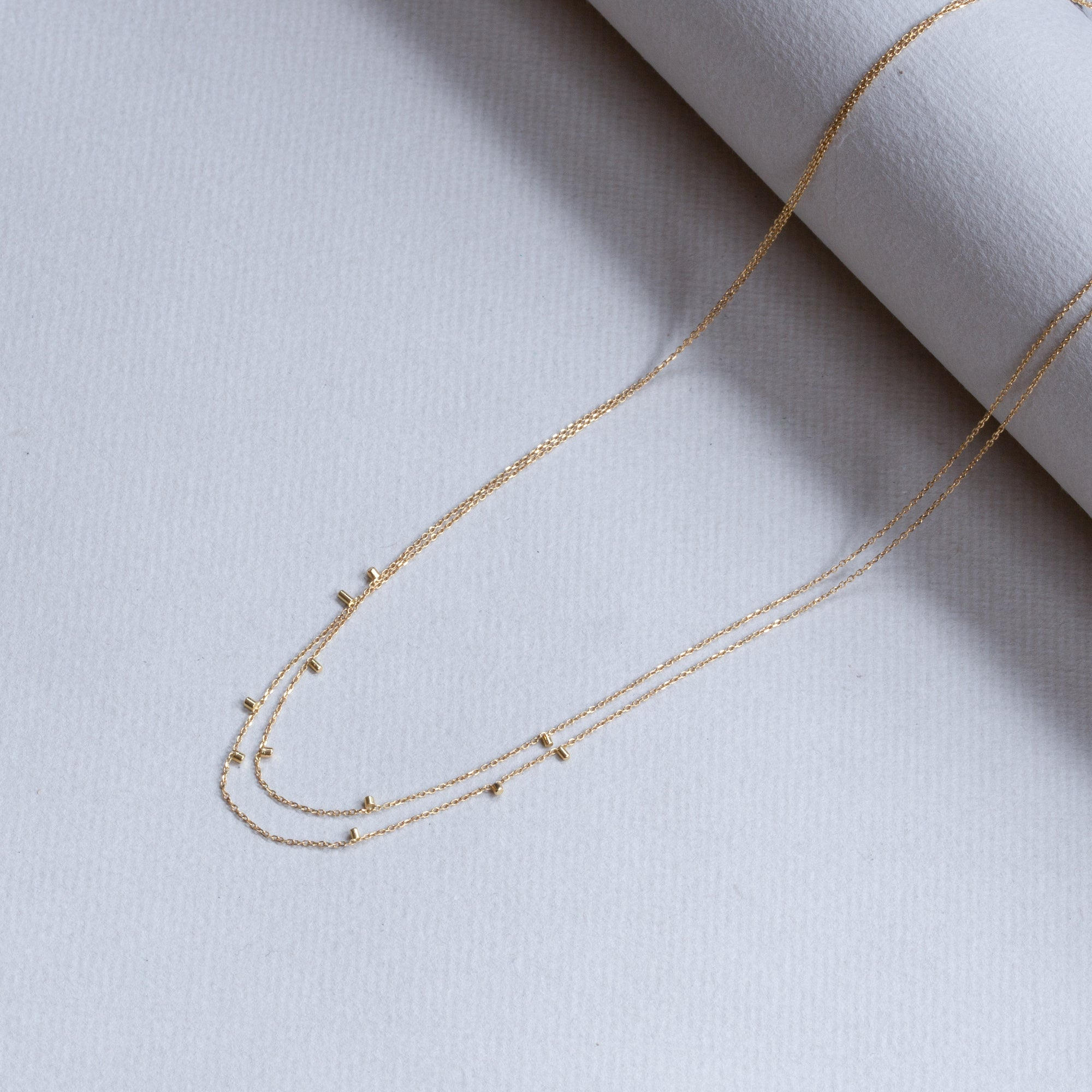 Gold Dust Double Strand Necklace