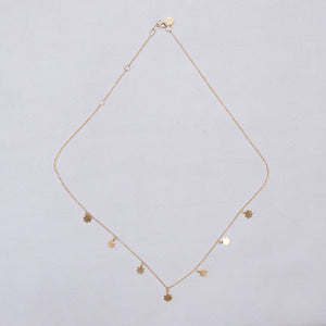 Gold Garland Necklace with Stars