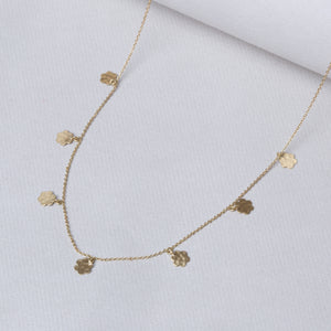 Gold Garland Necklace with Marigold